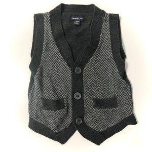 Baby GAP Boys Herringbone Button Up Vest 18-24 Mo